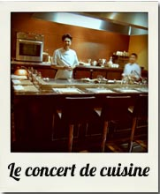 le concert de cuisine - la rapporteuse